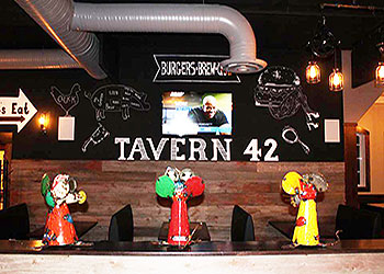 Tavern 42 Burgers Brew and BBQ Dining Room | Plantsville CT