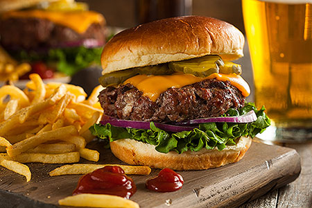 Burgers at Tavern 42 in Southington CT